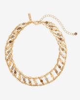 White House Black Market Semi-Precious Ladder Choker Necklace