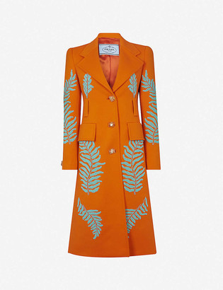 Prada Bead-embellished wool coat