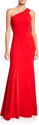 Jay Godfrey Stone One-Shoulder Column Gown