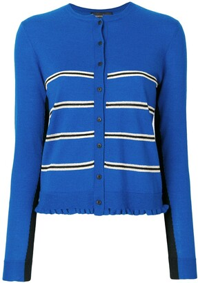 Cashmere In Love Capucine cropped striped cardigan