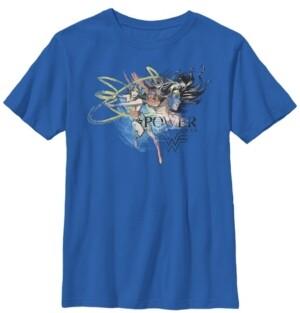 Fifth Sun Dc Comics Little and Big Boys Wonder Woman Power Short Sleeve T-Shirt