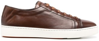 Santoni Leather Lace-Up Trainers