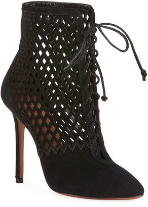 Alaia Laser-Cut Chamois Booties