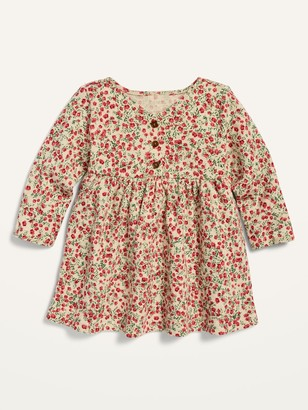 Old Navy Fit & Flare Floral Henley Dress for Baby