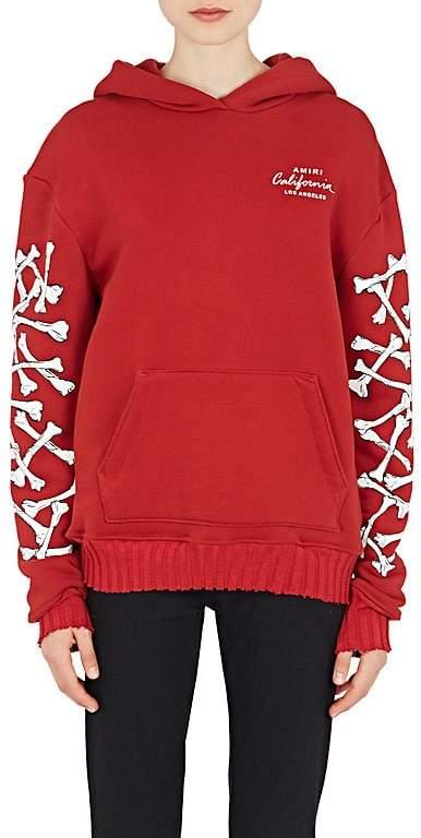 """Amiri Women's """"California"""" Bone-Graphic Cotton Hoodie"""