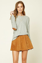Forever 21 FOREVER 21+ Marled Elbow-Patch Sweater