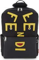 Fendi Logo Patch Shearling Bkpk