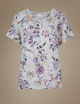 Marks and Spencer Printed Short Sleeve Pyjama Top