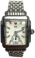 Michele Deco Stainless Steel & White Mother of Pearl Dial 29.5mm Womens Watch