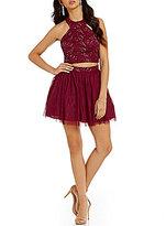 B. Darlin Lace Racer Top Two-Piece Dress