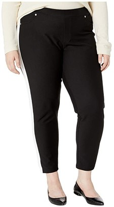 MICHAEL Michael Kors Size Stripe Pull-On Leggings (Black) Women's Casual Pants
