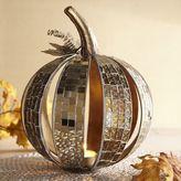 Pier 1 Imports Gold Mosaic Pumpkin Tealight Candle Holder