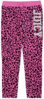 Juicy Couture Girls Logo Juicy Leopard 74 Velour Slim Pant