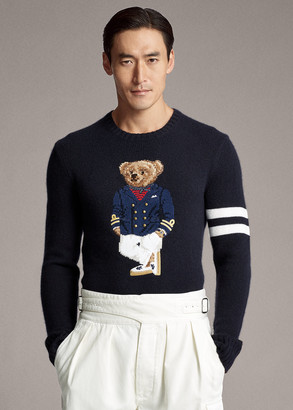 Ralph Lauren Bear Cashmere-Blend Sweater