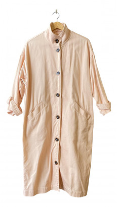 Monki Pink Cotton Trench coats