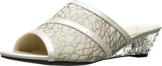 Annie Shoes Women's Midnight W Slide Sandal