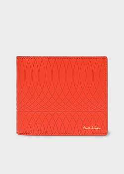 40a0dbf168f9 Paul Smith No.9 - Scarlet Red Leather Billfold Wallet With Red And Black  Interior