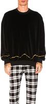Haider Ackermann Velvet Sweatshirt in Black.
