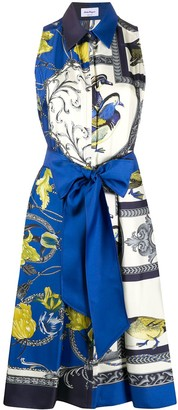 Salvatore Ferragamo Elisabeth scarf print dress