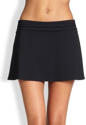 Karla Colletto Swim Ruched Waistband Skirt