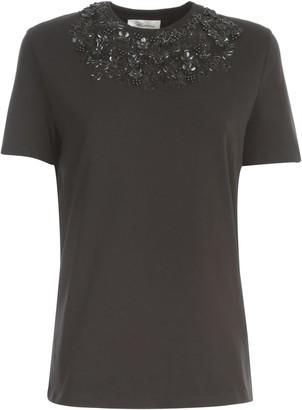 Blumarine T-shirt S/s W/embroidered Flowers