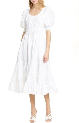 Ulla Johnson Juniper Puff Sleeve Midi Dress