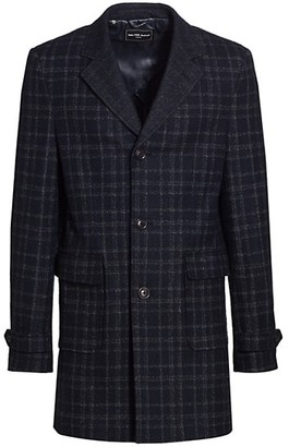 Saks Fifth Avenue MODERN Double Face Plaid Top Coat