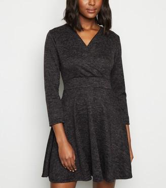 New Look Mela Wrap Skater Dress