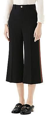 Gucci Women's Web Trim Culotte Pants