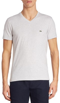 Lacoste V-Neck Regular-Fit Cotton Tee