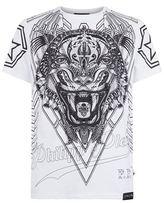 Philipp Plein Swarovski Tiger Embellished T-shirt