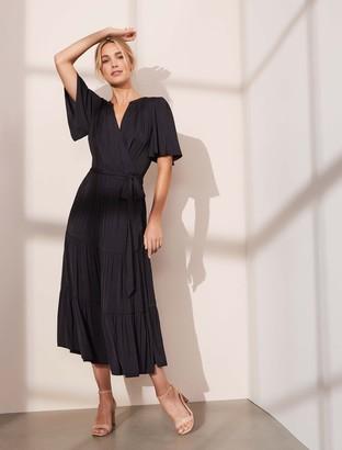 Ever New Anna Flutter Sleeve Midi Dress