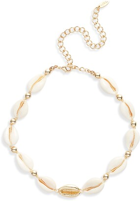 Ettika Shell Collar Necklace