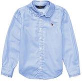 Ralph Lauren 2-6X Ruffled Cotton Oxford Shirt