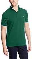 Fred Perry Men's Twin Tipped Shirt, C Service Blue/Snow White