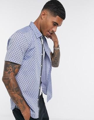 Ted Baker newfono paisley print short sleeve shirt