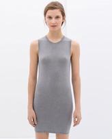 Zara Dress With A Back Zip