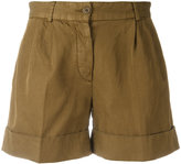 Aspesi turn-up cuffs shorts - women - Cotton/Linen/Flax - 40