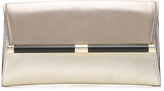 Diane von Furstenberg 440 Mixed Metallic Envelope Clutch