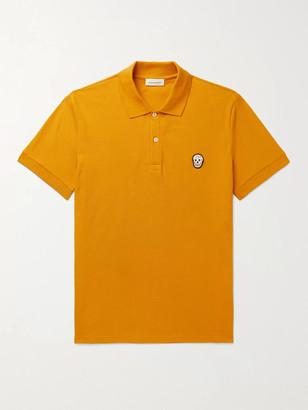 Alexander McQueen Slim-Fit Appliqued Cotton-Pique Polo Shirt
