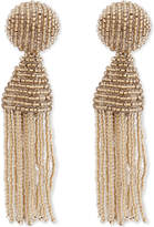 Oscar de la Renta Classic tassel clip-on earrings