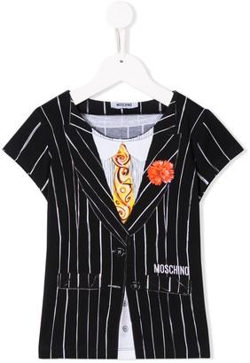 MOSCHINO BAMBINO TEEN waistcoat print T-shirt