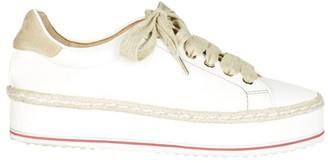 Joie Dabnis Leather Flatform Espadrille Sneakers