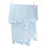 Little Giraffe Luxe Twist Baby Blanket - Blue