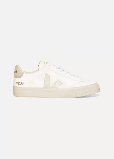 Veja Net Sustain Campo Vegan Suede-trimmed Leather Sneakers - White