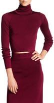 Rachel Zoe Winnie Silk Blend Cropped Sweater