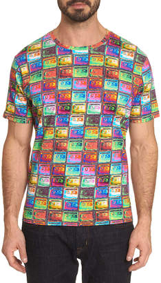 Robert Graham Men's Cassettes Graphic T-Shirt