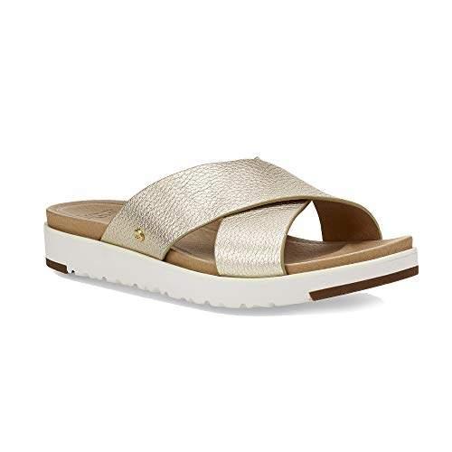 6c2cad339fa Women's Kari Metallic Flat Sandal