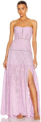Jonathan Simkhai Juliette Bustier Dress in Lilac | FWRD