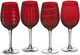 Mikasa Cheers Ruby Set of 4 Wine Glasses